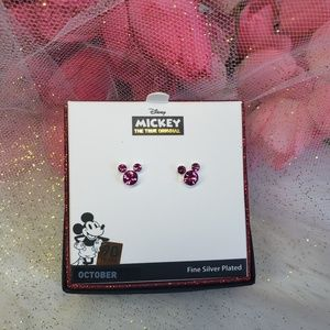 Disney mickey birthday month color earrings